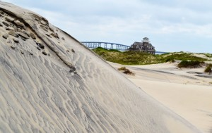 Hatteras Island, just below the big bridge, looking north. Sometimes gray is a very vibrant color.